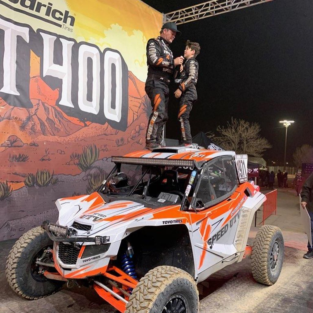 Mint 400 we have won the mint 400 in pro production UTV. Thanks to @robbygordon ...